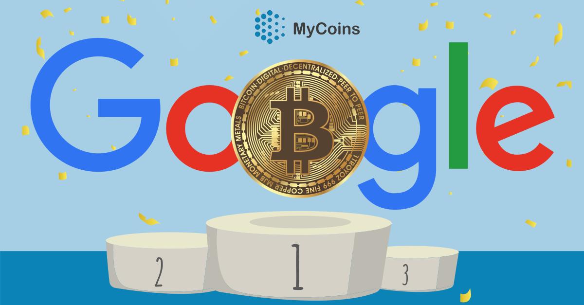 """ბიტკოინის ფასის ზრდიდან გამომდინარე Google – ის საძიებო სისტემაში """"Bitcoin"""" – თან დაკავშირებული სიახლეების მოთხოვნების რაოდენობა გასამმაგდა"""