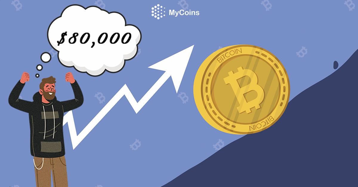 ბიტკოინმა (BTC) აპრილის თვეში შესაძლოა $80,000-ს მიაღწიოს?