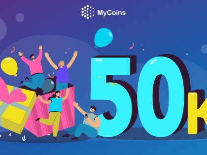 MyCoins-ზე უკვე 50,000-ზე მეტი აქტიური კრიპტომოყვარულია!