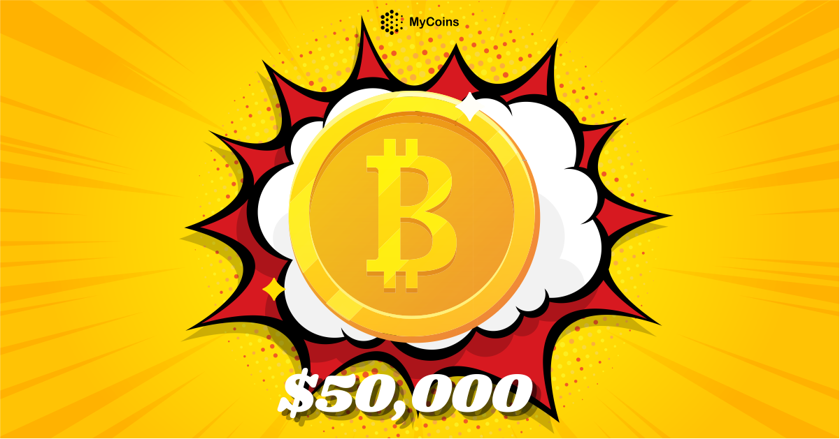 ბიტკოინის (BTC) ღირებულება კვლავ $50,000-ს ასცდა!